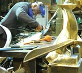 Sculptor Richard Hunt: at work in his studio