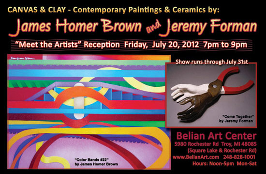 Belian Art Center: Abstract Artist James Homer Brown and Ceramic Artist Jeremy - Art Exhibit
